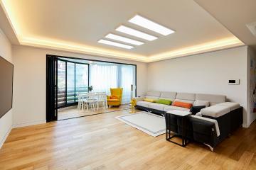 네가족의 따듯한 공간, 내추럴 컨셉의 60평대 빌라 60평대빌라,60평빌라,성남시,분당구,분당동