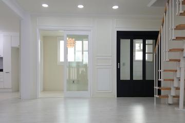 화이트 컬러의 뉴클래식 스타일, 30평대 복층 주택 30평대주택,35평주택,고양시,일산동구,정발산동