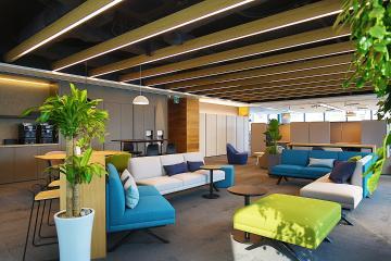 고급스러운 모던 스타일의 다양한 공간, 200평대 사무실