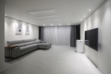 화이트&그레이 컬러의 이상적인 공간, 30평대 아파트