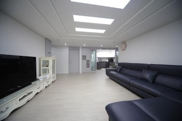 모던한 그레이 컬러의 세련된 공간, 40평대 아파트 40평대아파트,48평아파트,중랑구,신내동