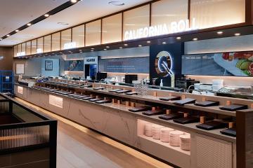 프랜차이즈 뷔페 인테리어, 240평대 식당