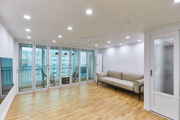 폴딩도어를 열면 작은 캠핑장이, 30평대 아파트 시흥시,대야동,30평대,32평