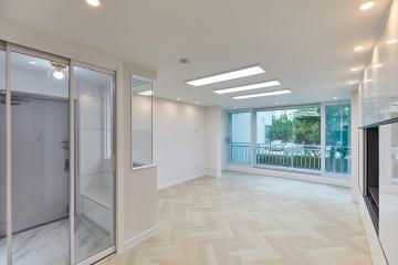 현관은 밝게 거실은 포근하게 연출한 30평대 아파트 고양시,일산동구,마두동,30평대,31평