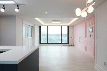 골드와 블랙 컬러의 욕실이 포인트, 30평대 아파트 화성시,오산동,동탄,30평대