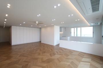 쉐브론 타일이 돋보이는 40평대 아파트 40평대,40평,대구,동구,신천동