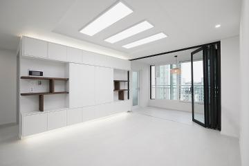 우유빛깔 컨셉의 20평대 아파트 20평대,26평,안양시,만안구,석수동