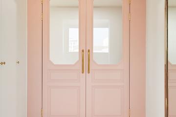 현관의 핑크색 중문이 반겨주는 50평대 아파트 50평대,56평,용인시,기흥구,마북동