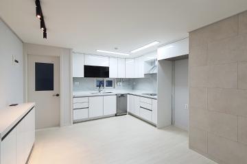 담백한 느낌의 인테리어, 30평대 아파트 30평대,34평,부천시,상동
