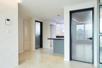 고급스러운 마감이 돋보이는 블랙&화이트 아파트 인테리어 27평,블랙&화이트,모던,아파트,일산