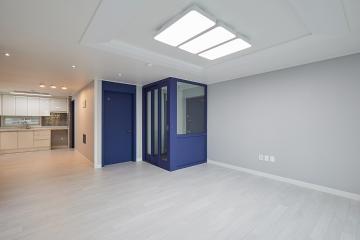 시원한 블루 컬러로 포인트를 준 30평대 아파트 30평대,30평,관악구,신림동