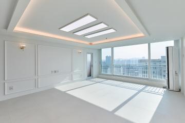 탑 층 세대의 장점을 모던하게 살린 40평대 아파트 인천,부평구,삼산동,40평대,42평
