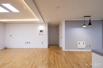 원목마루와 파벽돌로 내츄럴하게 33평 심플 아파트 인테리어 33평,화이트,심플,아파트,고양시