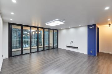 집안 곳곳 블루 포인트가 돋보이는 40평대 아파트 고양시,일산서구,대화동,대화마을,40평대,48평
