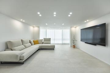 공간의 재해석~! 주방과 거실을 따로, 또 같이! 48평,40평대,부산,사상구,코오롱아파트,화이트인테리어