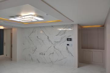 대리석 아트월로 고급스러움을 더하다 49평,40평형,친환경벽지,당산동,강변삼성래미안,대리석인테리어