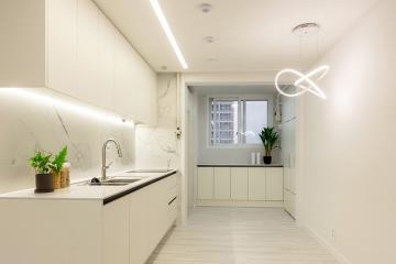 화이트컨셉과 라인조명으로 공간이 넓어 보이는 인테리어  26평,20평대,한밭자이아파트,대전,동구,삼성동