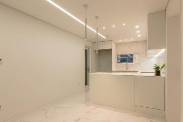 거실 수납 공간을 살려 더욱 깔끔해진 아파트 인테리어 32평,30평대,한빛아파트,대전,유성구,어은동