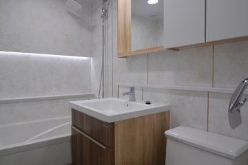 욕실 우드 인테리어로 심플하고 내추럴하게 35평,30평대,대전,중구,문화동