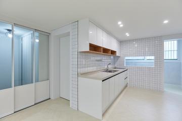 주방과 침실의 세련된 파티션이 포인트 20평대