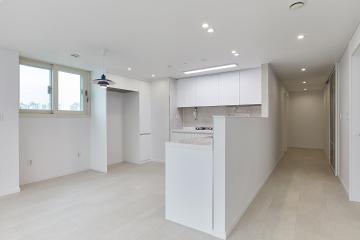 독특한 주방 구조를 모던하게 살린 공간 30평대,34평