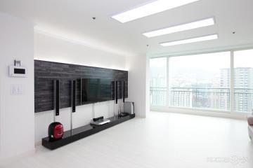 화이트 & 블랙 컨셉의  깔끔한 32평 아파트 인테리어   32평,모던,화이트&블랙,아파트,안양시