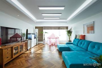 화이트톤과 우드로 따뜻한 공간을 연출한 43평 아파트 인테리어 43평,내추럴,화이트,아파트,성북구