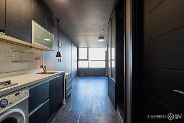 무채색으로 모던함을 연출한 8평 원룸 오피스텔 인테리어 8평,블랙,모던,원룸,마포