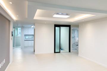 심플함에 따뜻함 더한 35평아파트 인테리어  화이트,그레이,심플