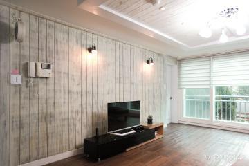 벽돌로 포인트를 주어 꾸민 32평 아파트 인테리어 32평,화이트,북유럽,아파트,안양