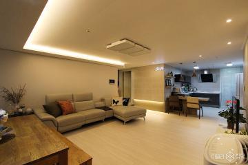 화이트톤과 전구색 LED로 부드러운 분위기를 자아낸 33평 아파트 인테리어 33평,모던,화이트,아파트,송파구