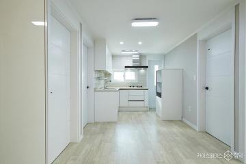 심플함 속에 컬러로 포인트를 살린 25평 빌라 인테리어 25평,심플,그레이,빌라,용산구