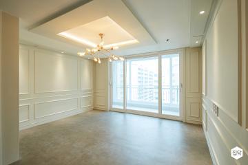 화이트 웨인스코팅을 통한 고급스러움, 32평 클래식 아파트 인테리어 32평,클래식,화이트,아파트,부천시
