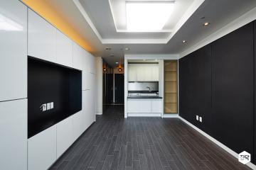 호텔의 은은함을 오피스텔로 가져오다, 12평 오피스텔 인테리어 12평,모던,블랙,원룸,강남구
