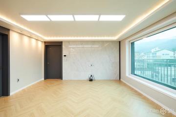 사무실로 사용했던 공간의 재탄생, 43평 아파트 인테리어 43평,모던,화이트,아파트,강북구