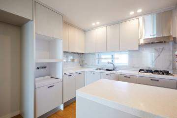 장모님, 저희가 곁에 있겠습니다 34평,모던,화이트,아파트,동작구,비포앤애프터,Before&After