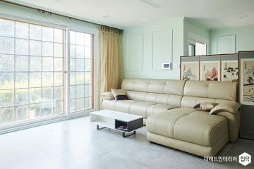 민트 소다 향 톡톡 튀는 집 45평,클래식,민트,주택,화성시