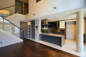 주택처럼 여유롭게 아파트처럼 편리하게 50평,모던,그레이,주택,파주