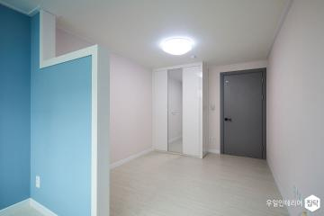 푸른빛 공간의 시퀀스 31평,모던,블루,아파트,미아동